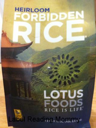 Lotus foods black rice