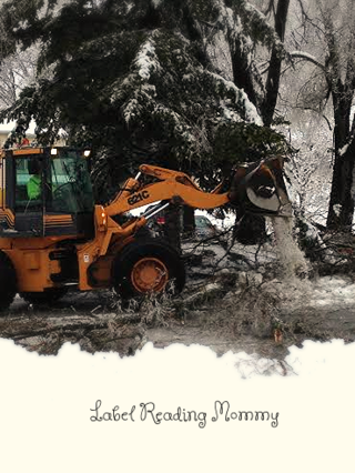 Bulldozer storm cleanup